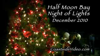 Half Moon Bay Night of Lights parade and more video link