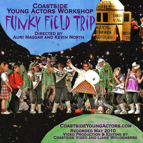Funky Field Trip, Coastside Young Actors Workshop play, PR image, by Coastside Video and Lianes Lens