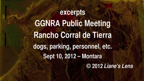 video: GGNRA meeting 9/10/12 re: Rancho