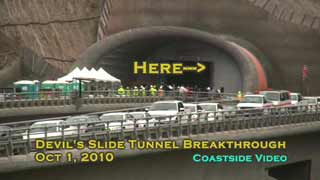 Devil's Slide Tunnel Breakthrough Video Link