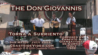 video link - The Don Giovannis Torna a Surriento