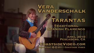 Video Link - Vera Vanderschalk - Flamenco guitar -Tarantas